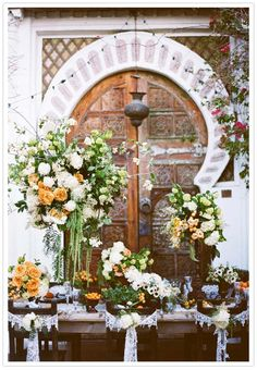 Summer Styling Flowers Moroccan styled wedding look style Love