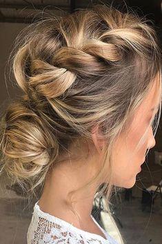 Top Wedding Updos For Medium Hair ❤ See more: http://www.weddingforward.com/wedding-updos-for-medium-hair/ #weddings #UpdosBraided