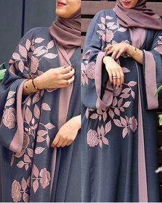 available here DM for order Iranian Women Fashion, Islamic Fashion, Muslim Fashion, Abaya Fashion, Fashion Outfits, Hijab Style Dress, Abaya Style, Mode Abaya, Hijab Fashionista