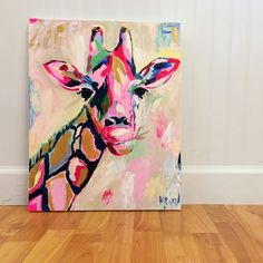 The sassy giraffe by megan carn giraffe art, elephant print, diy art, girra Painting Inspiration, Art Inspo, Pintura Graffiti, Giraffe Art, Giraffe Painting, Elephant Print, Creation Art, Art Plastique, Love Art