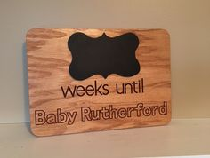 "Excited about your baby coming or do you need a gift for a pregnant friend? This ""weeks until baby arrives"" is perfect! Enjoy the chalkboard design to count the weeks down."