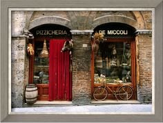 Bicycle Parked Outside Historic Food Store,   Siena, Tuscany, Italy  by John Elk