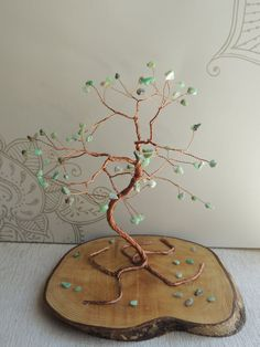 Green opal Gemstone tree by AbssOluto on Etsy Wire Trees, Green Opal, Handmade Wire, Opal Gemstone, Gift Packaging, Gemstones, Awesome, Gifts, Etsy
