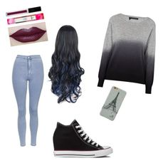 """""""Rainy day"""" by rileykay13 ❤ liked on Polyvore featuring 360 Sweater, Converse and Topshop"""