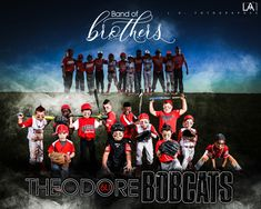 Band of Brothers  Theodore Bobcats 6U AllStar Team  #lafotographee #baseball #littleleague #youth #poses #graphicdesign #photography #2018