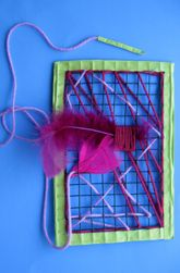 Preschool art project: metal cloth embroidery art