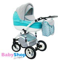 Kinderwagen Evado 3in1: Babywanne, Buggy, Autositz - türkis  http://www.babyshop.expert/Kinderwagen-Evado-3in1-Babywanne-Buggy-Autositz_16  #babyshopexpert #kombikinderwagen #kinderwagen