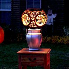 Tiffany Carved Pumpkins