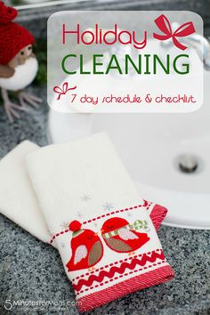 Holiday Cleaning Help – A Printable Schedule and Checklist (sponsored by @MerryMaids)