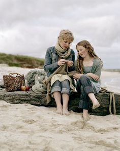 Mother and daughter knitting by Andrew Montgomery #knitting #gift #mothersday