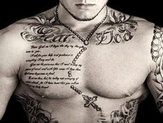 good upper chest quotes for tattoos with forever gratefull letter 300x228 Good Tattoo Quotes for You