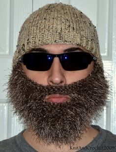 Beard Beanie, Knitted Beard Hat, Adult Size, All Colors, Bearded Beanie, Bearded Hat, Bearded Cap on Etsy, $37.00