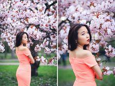 Miss Sakura: Spring Fashion photoshoot in Regent's park, London Cherry Blossom Pictures, Sakura Cherry Blossom, Cherry Blossoms, Spring Photography, Lifestyle Photography, Graduation Pictures, Senior Pictures, Poison Ivy Dress, Professional Portrait