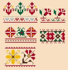 Motivos búlgaro padrão cruzado livre ponto