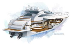 Cool Illustration and Presentation for Yacht Design & Interior