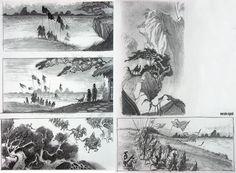 Mulan Layout Sketches - Pual Felix, Marcelo Vignali
