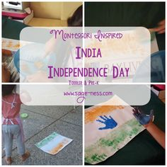 Montessori Inspired India Independence Day Activity Independence Day Activities, India Independence, Indian Flag, Some Fun, Montessori, Sage, Fun Crafts, Activities For Kids, Craft Supplies