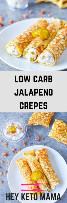 These low carb jalapeno crepes are an amazing flavor adventure--a combination of sweet, savory AND spicy! Keto Foods, Ketogenic Recipes, Keto Snacks, Low Carb Recipes, Cooking Recipes, Gourmet Foods, Easy Recipes, Low Carb Lunch, Low Carb Breakfast