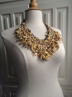 Robin Ayres - Celluloid charms with vintage pearl drops and antique ceramic buttons - 2015