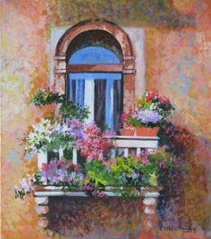 Painting of Venice by Chitra Vaidya