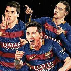 Illustration: Suarez, Messi and Neymar Football Love, Football Is Life, Football Team, Fc Barcelona Players, Real Madrid Players, Messi And Neymar, Lionel Messi, Cr7 Junior, 3 Friends