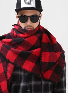 1a4c517ac Meli Plaid Woolen Scarf Shawl  41.00  Fashion  Style  Street  Plaid   Muffler  Black  Red
