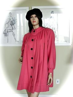 YSL Vintage 70s Russian Peasant Cashmere Blend Swing Coat!!!