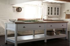 We love the new Classic Prep Table with rustic oak worktop by deVOL, it creates the perfect family kitchen.