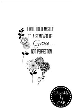 Grace Not Perfection Free Printable