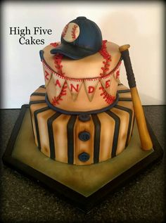 Baseball Themed Birthday Cake Call or email to place your birthday