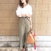 shirts..アパルトモン pants..Dholic belt..ZARA shoes..Chloe bag..GIVENCHY scarf..HERMES necklace..adam et rope select