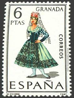 Collection of Spanish stamps: 1968 Granada Old Stamps, Postage Stamp Art, Letter Art, Mail Art, Stamp Collecting, My Stamp, Retro, Folklore, Photo Editing