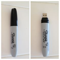 DIY USB flash drive Sharpie Felt Marker. Easier to carry, harder to lose.