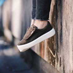Puma - Platform big strap olive. Harper Store - Clothing & Sneakers. Sneakers Women, Puma Platform, Athleisure, Vans, Slip On, Big, Clothing, Shoes, Fashion