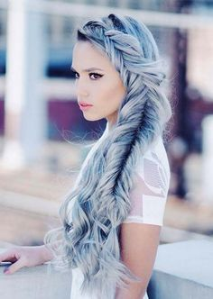 100 Trendy Long Hairstyles for Women: Side Fishtail Braid