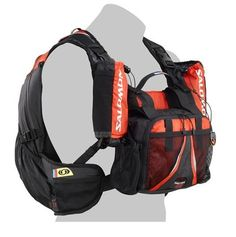 Salomon Raid Devil 25 Backpack: comes fully stocked with everything you need on the long journey: map and energy in the front pocket, bottles in the two secured shoulder carriers, a 20L volume easily accessible thanks to a large front opening and of course a bladder compartment. All it needs is a compartment for the kitchen sink. Pick it up around $80
