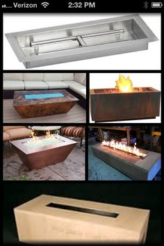 Google- rectangle fire pit
