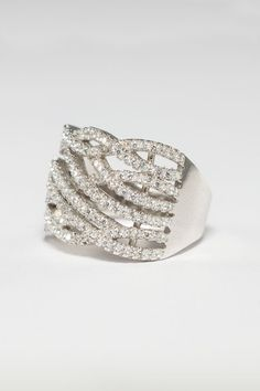 925 Sterling Silver Woven Cubic Zirconia Ring In Stock Price Cubic Zirconia Rings, Sterling Silver Rings, Cuff Bracelets, Jewelry, Sterling Silver Band Rings, Bijoux, Jewlery, Jewels, Jewelery
