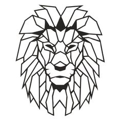 Cheap Plaques & Signs, Buy Quality Home & Garden Directly from China Suppliers:Antdecor Lion Head Metal Wall Art L, World Map and World Themed Wall Decor x 16 Geometric Lion, Geometric Drawing, Geometric Wall, Geometric Shapes, Metal Wall Decor, Metal Wall Art, Metal Walls, Wood Carving Art, Lion Tattoo