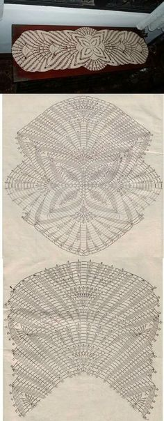 This Pin was discovered by Pat Filet Crochet, Crochet Doily Patterns, Crochet Diagram, Crochet Chart, Thread Crochet, Irish Crochet, Crochet Designs, Knit Crochet, Crochet Table Runner