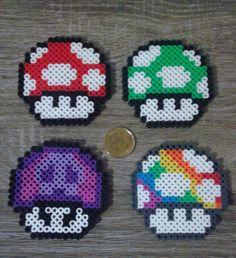 Super Mario Bros - Mushroom Perler Beads