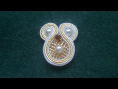 Beading4perfectionists : Soutache #1 : How to curve around a pearl earring beginners tutorial - YouTube