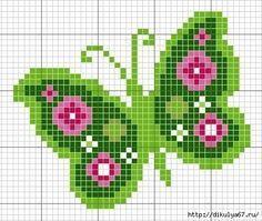 Como bordar mariposas con graficos en punto de cruz06
