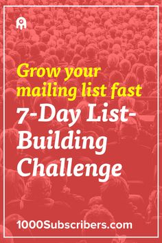 To run a successful blog you need to have a mailing list. Take this 7-day challenge to see how you can start growing your email list today.