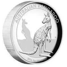 Australian Kangaroo 2016 1oz Silver Proof High Relief Coin