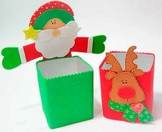 Embalagem de Papai Noel na caixa de leite - Pra Gente Miúda