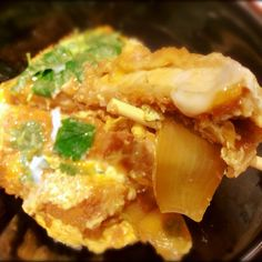 """This is Japanese food """"katsudon"""""""