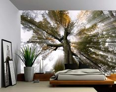 Blossom Tree of Life – Large Wall Mural, Self-adhesive Vinyl Wallpaper, Peel & Stick fabric wall decal – Picturi Vinyl Wallpaper, Self Adhesive Wallpaper, Adhesive Vinyl, Large Wall Murals, Blossom Trees, Tree Forest, Art Mural, Textured Walls, Interior Design Living Room