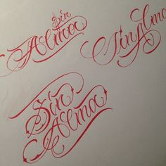 SIN ALMA different style --- sketch Chicano Lettering, Tattoo Lettering Fonts, Hand Lettering Alphabet, Font Art, Graffiti Alphabet, Flower Sketch Images, Flower Sketches, Cursive Tattoos, Writing Tattoos
