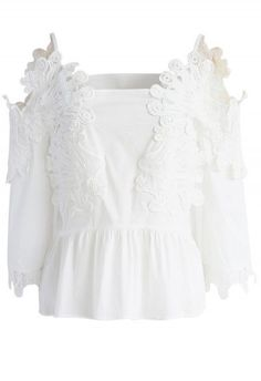 b40a37ebac8d8 Flower Bomb Embroidered Off-shoulder Top and Shorts Set- New Arrivals -  Retro